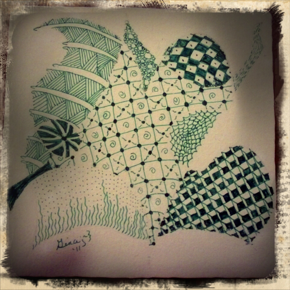 Zen Doodle Green