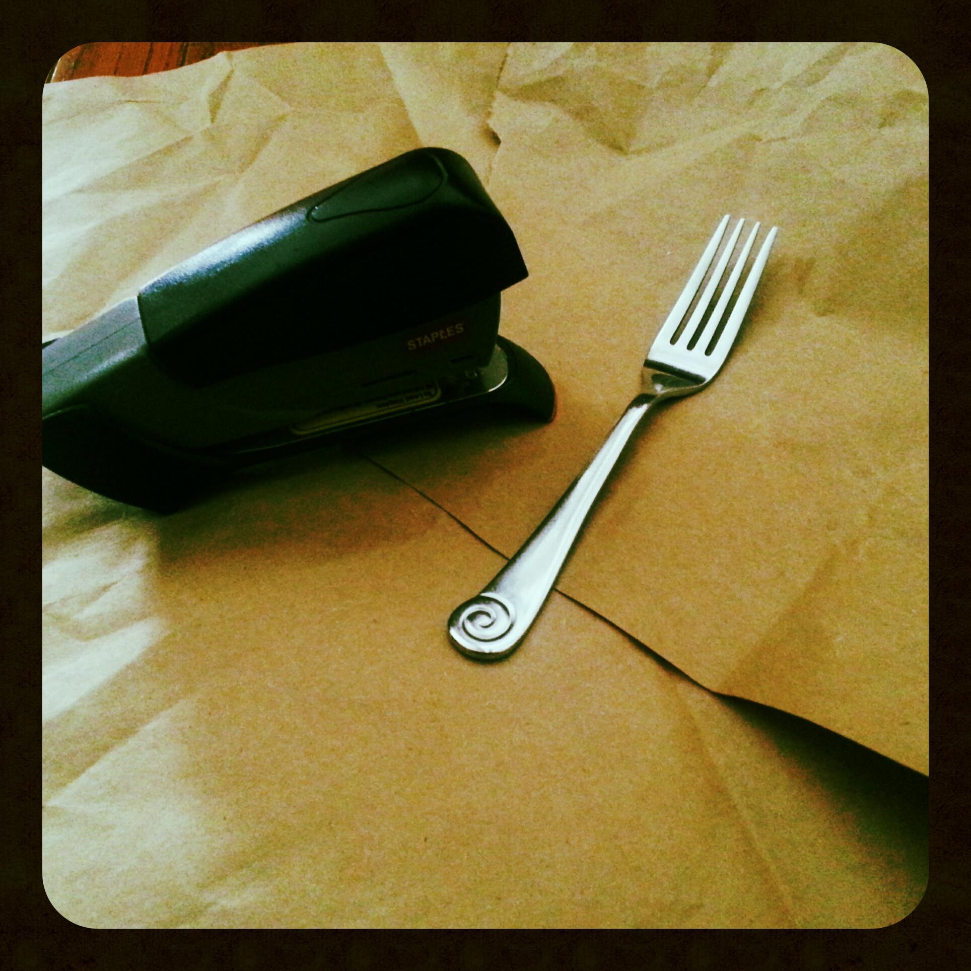 Paper, Stapler, Fork