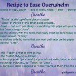 Recipe to Ease Overwhelm 20150805
